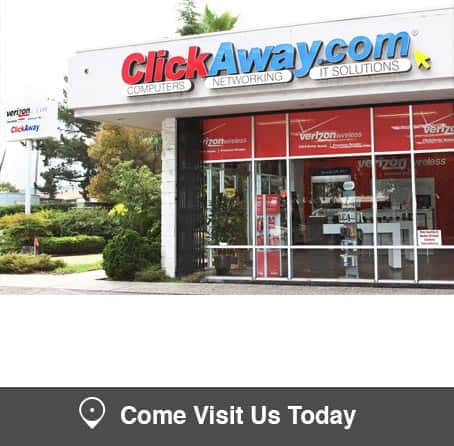 ClickAway Almaden San Jose store for computers, computer repair and computer networking + Verizon wireless plans, cell phone and cell phone repair.