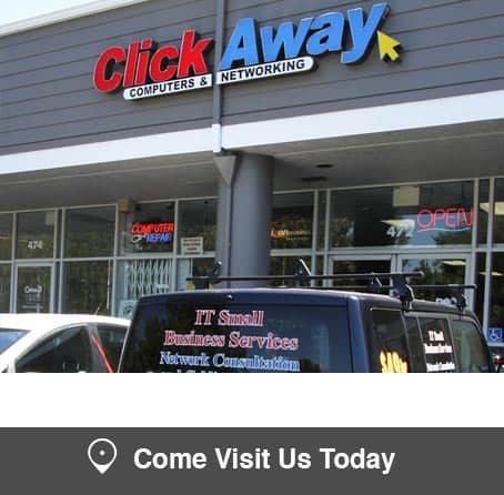 ClickAway Sunnyvale store for computers, computer repair and computer networking + Verizon wireless plans, cell phone and cell phone repair.