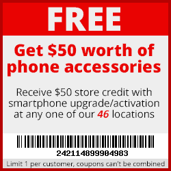 $50 in accessories FREE with phone purchase