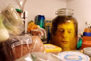 How to put your head in a jar Halloween trick