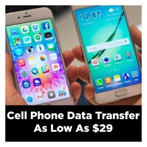 cell phone data transfer at ClickAway