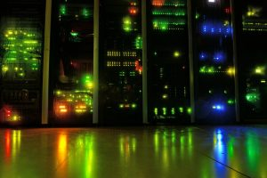 Leds Datacenter Network Night Room Server