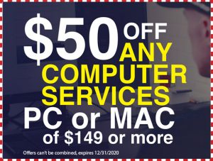 $50 OFF any computer services