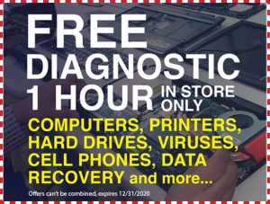 Free diagnostic - 1 hour in store only