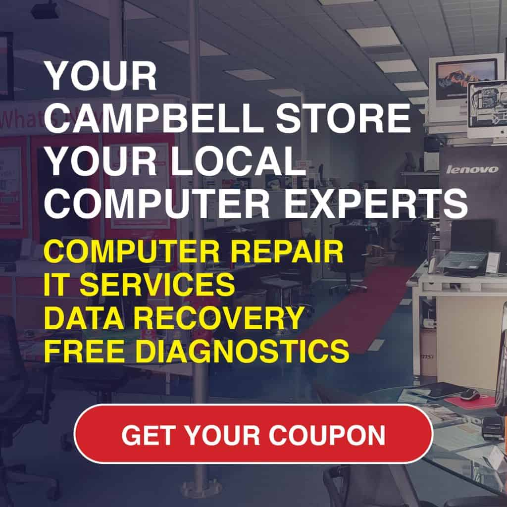 Computer repair shop near Campbell