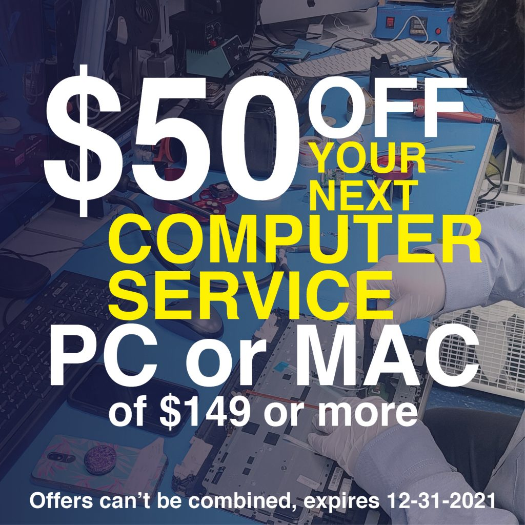 computer repair coupon 2021