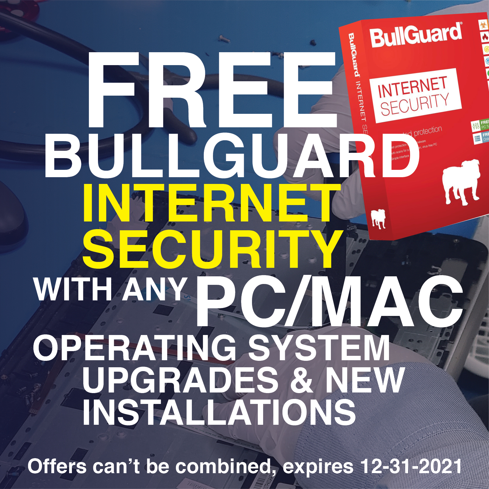 Get Your Free Bullguard Internet Security with and Mac & Pc Operating Systems upgrade & new installations