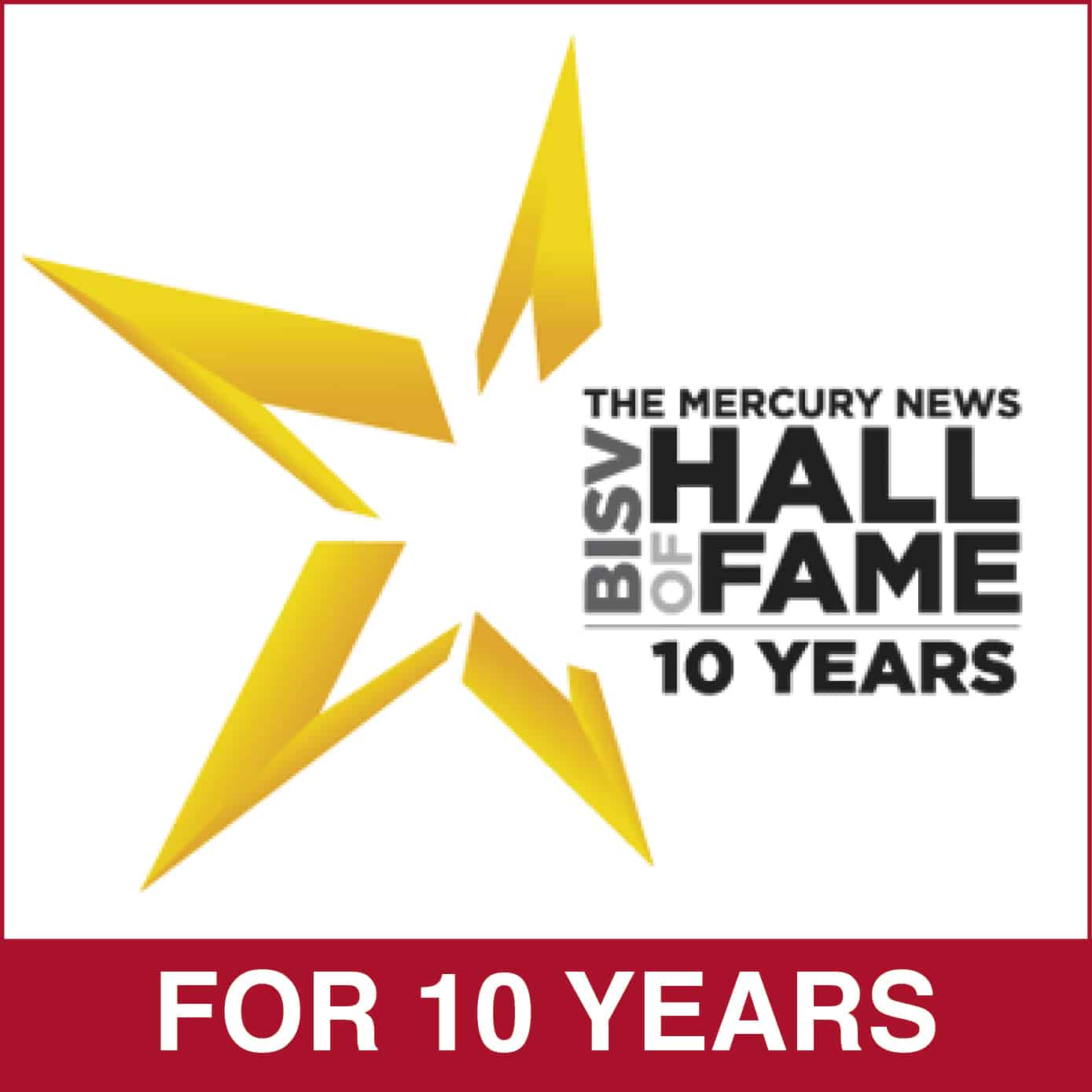 Hall of Fame 10 Years Silicon Valley